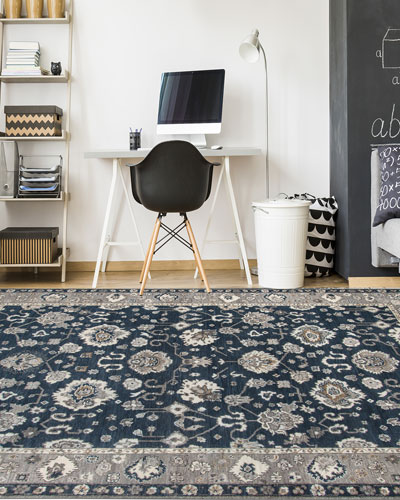 Bluestar Hand-Knotted Rug, 10' x 14'  and Matching Items