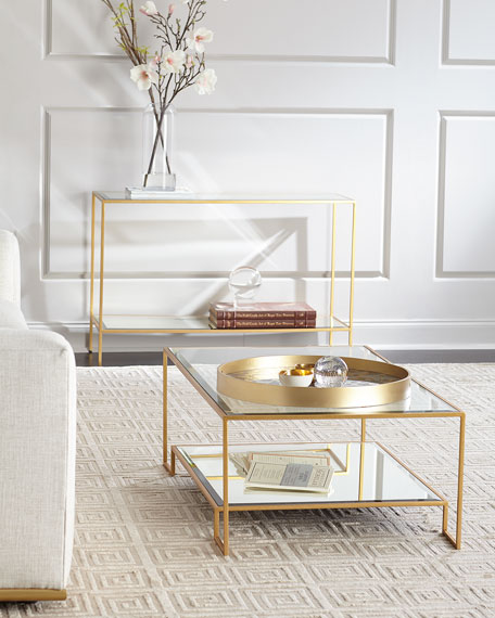 Raja Mirrored Console Table