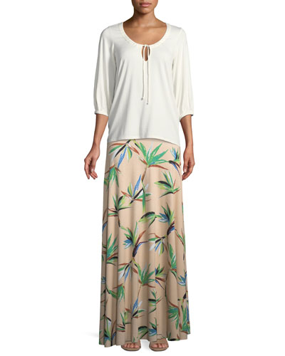 Logan 3/4-Sleeve Tie-Front Top, Plus Size and Matching Items