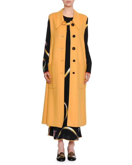 Button-Down Wool-Cashmere Midi Vest