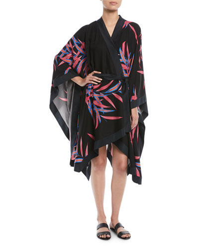 Printed Tie-Front Beach Kimono and Matching Items