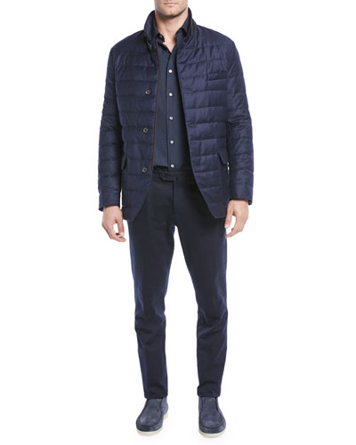 Men's Quilted Roadster Button-Front Jacket and Matching Items