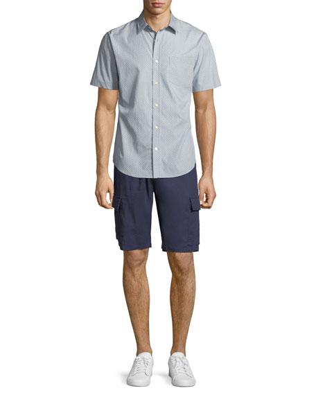 Men's Micro Stars Short-Sleeve Sport Shirt