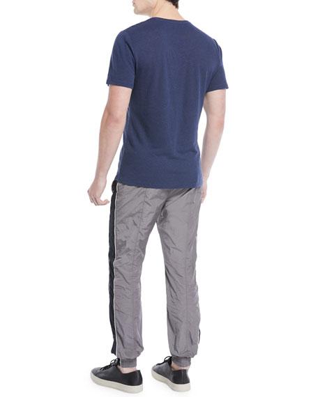 Men's Heathered Linen/Cotton V-Neck T-Shirt