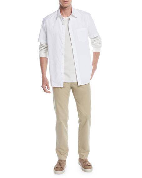 Men's Waffle-Knit Long-Sleeve T-Shirt
