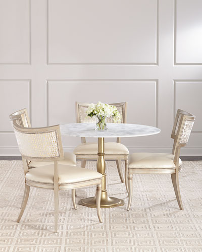 Chesney Marble-Top Bistro Table  and Matching Items