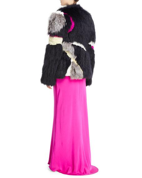 Mixed-Fur Mid-Length Coat