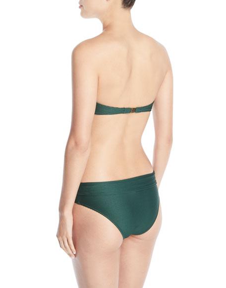 Padded V-Bar Bandeau Bikini Swim Top