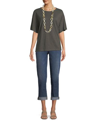 Short-Sleeve Hemp-Cotton Twist Top and Matching Items