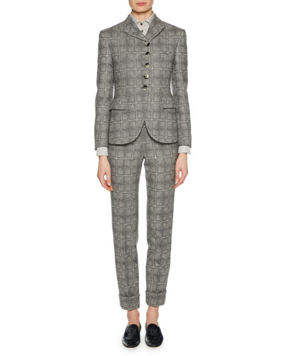 Wool-Blend Check-Patterned Pants and Matching Items
