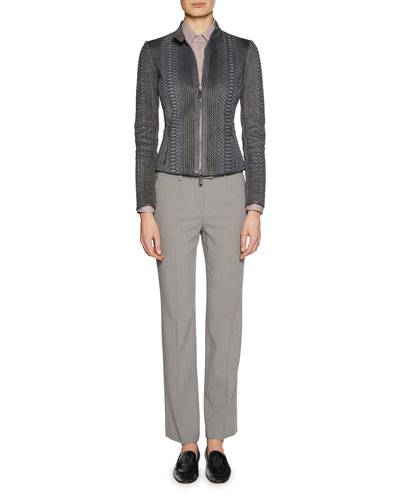 Mid-Rise Classic Virgin Wool Pants and Matching Items