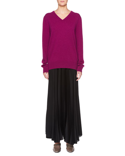 Maley V-Neck Long-Sleeve Cashmere-Blend Sweater and Matching Items