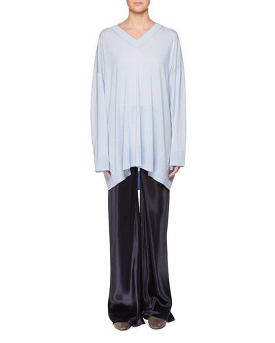 Sabrinah V-Neck Long-Sleeve Wool Tunic Top and Matching Items