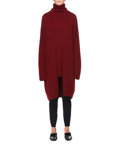 Elado Long Cashmere-Silk Open-Front Cardigan and Matching Items