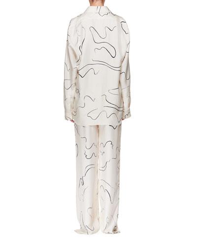 Big Sisea Button-Down Long-Sleeve Silk Shirt and Matching Items