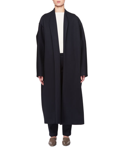 Maiph Shawl-Collar Open-Front Long Coat and Matching Items