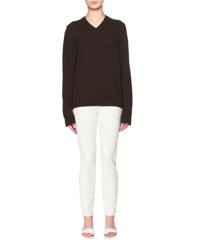 Monica V-Neck Long-Sleeve Cashmere Top and Matching Items