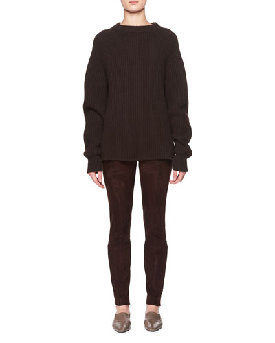 Cosso Skinny-Leg Suede Pants and Matching Items
