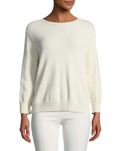 Rio Open-Front Relaxed Cotton-Silk Sweater