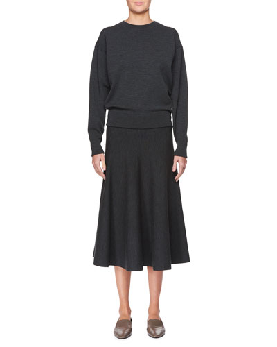 Alessia Wool A-Line Midi Skirt, Black and Matching Items
