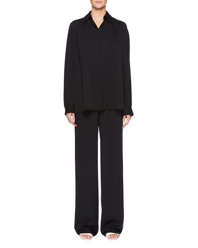 JR Tie-Waist Straight-Leg Silk Pants and Matching Items