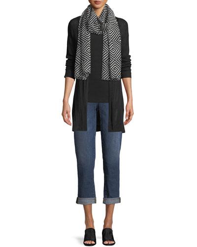 Fine Silk/Organic Linen Cardigan, Petite and Matching Items
