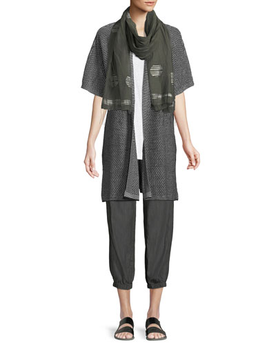 Short-Sleeve Organic Linen Kimono Cardigan  and Matching Items