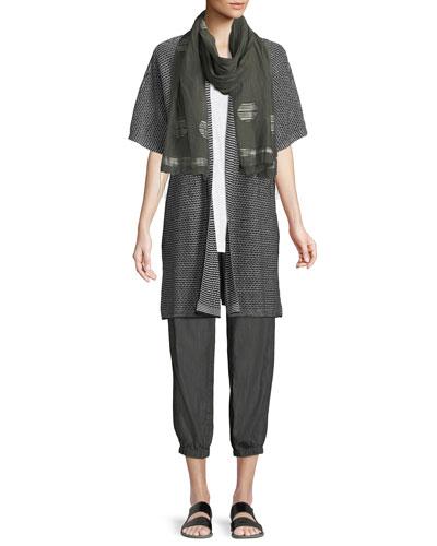 Short-Sleeve Organic Linen Kimono Cardigan  and Matching Items