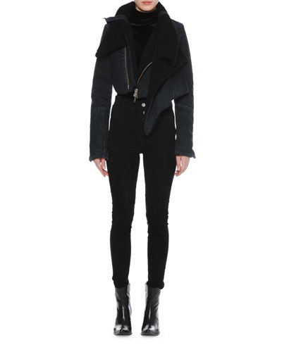 Deconstructed Shearling-Lined Denim Coat and Matching Items