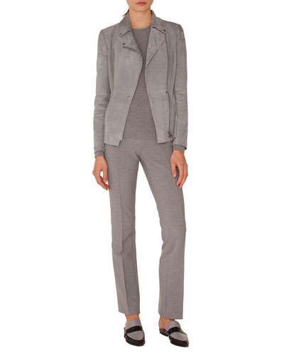 Francoise Straight-Leg Side-Zip Pants and Matching Items