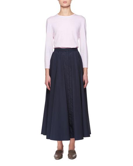 Mave Crewneck Long-Sleeve Cotton Top