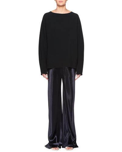 Gala Straight-Leg Satin Pants and Matching Items