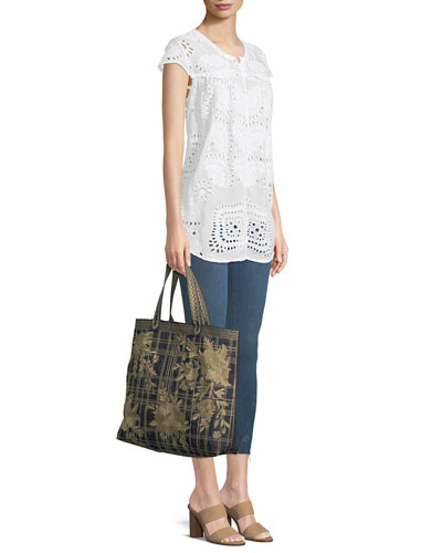 Marietta Cap-Sleeve Eyelet Blouse and Matching Items