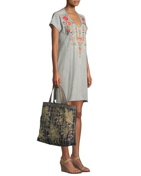 Hazleton Draped Tunic Dress, Plus Size