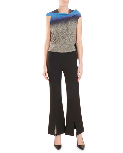 Eugene Draped-Back Speckle-Print Top and Matching Items