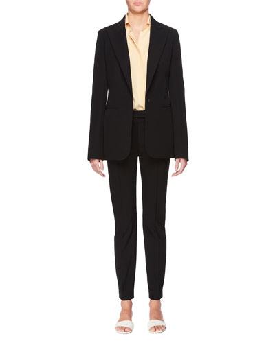 Limay Single-Breasted One-Button Crepe Jacket and Matching Items