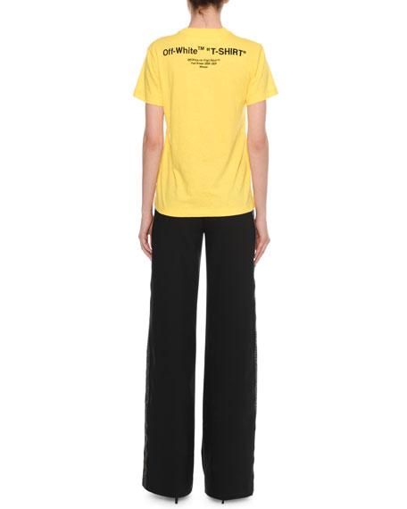 """T-Shirt"" Crewneck Short-Sleeve Casual Cotton Tee"