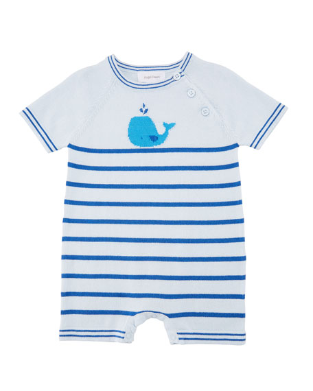 Nautical Whales Gown, Size 0-3 Months