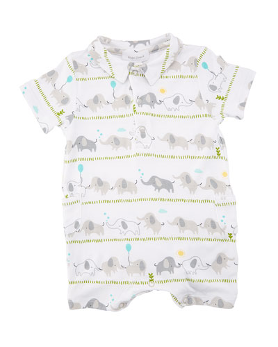 Elephant Stripe Polo Shortall, Size 0-12 Months  and Matching Items