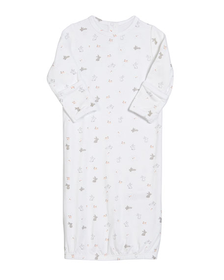 Ditsy Rabbit Gown, Size 0-3 Months