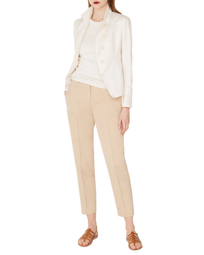 Samir Button-Front Silk-Cashmere Short Jacket and Matching Items