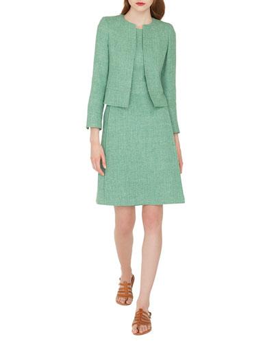 Sally Hook-Closure Short Linen Jacket and Matching Items