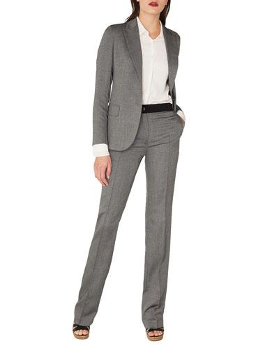 Sammy One-Button Cashmere-Silk Gabardine Blazer and Matching Items