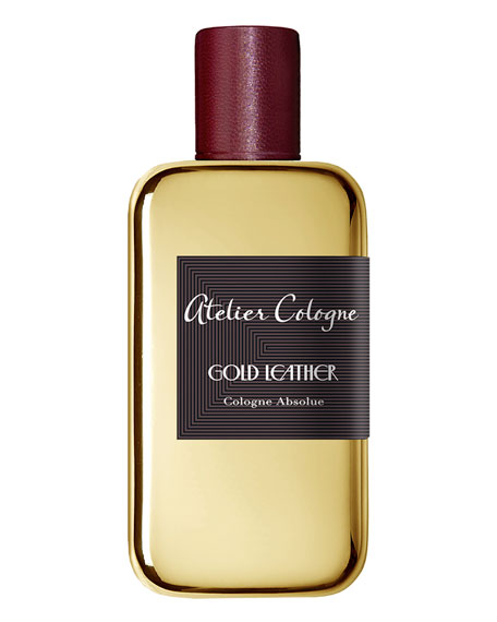 Gold Leather Cologne Absolue, 200 mL with Personalized Travel Spray, 1.0 oz./ 30 mL