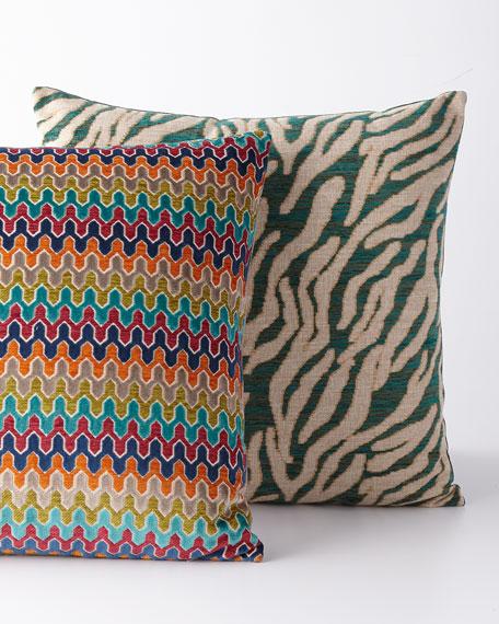 Sidewinder Cut Velvet & Chenille Pillow