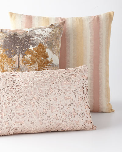 Sycamore Metallic Jacquard Pillow  and Matching Items
