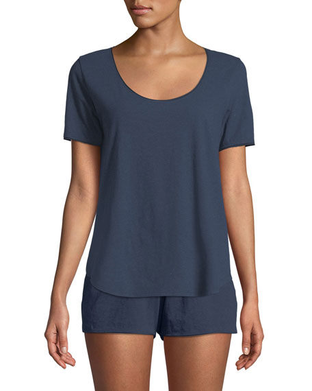 Orlena Scoop-Neck Lounge Top