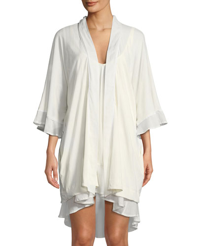 Bettina High-Low Cotton Nightgown and Matching Items