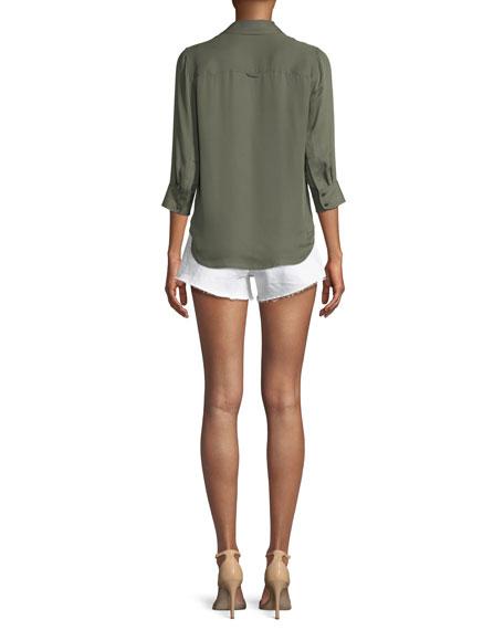 Ryan 3/4-Sleeve Silk Blouse