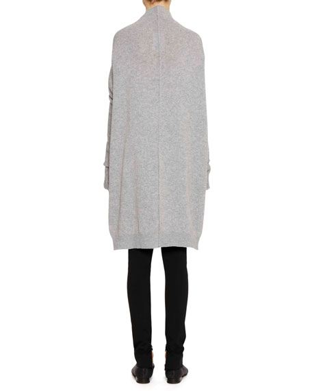Funnel-Neck Long-Sleeve Oversized Cashmere Sweater